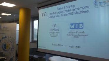 Eventi InnovitsLab. Sales & Startup: i modelli organizzativi nativamente omnicanale. Il caso WIB Machines