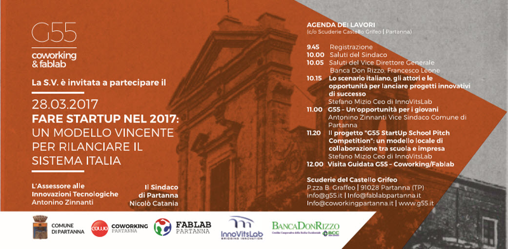 programma evento partanna G55 Start-Up School Pitch Competition