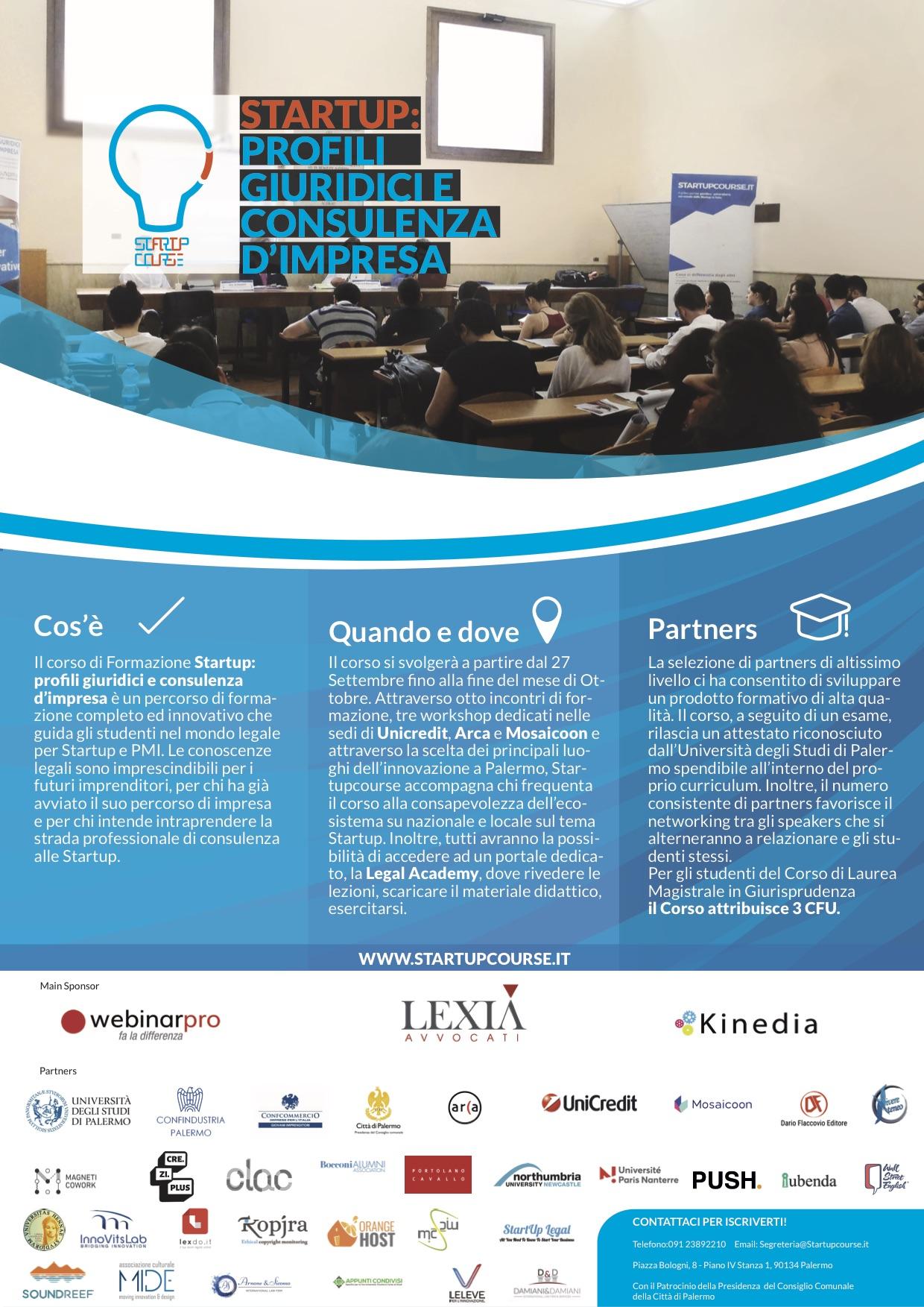 Locandina Startup profili giuridici